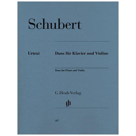 Schubert, F.: Duos für Violine und Klavier Urtext