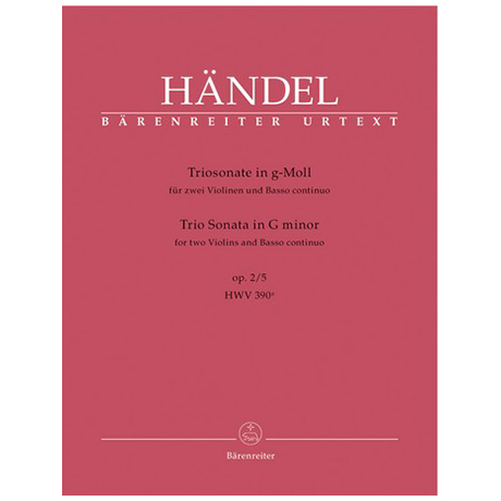 Händel, G. F.: Triosonate Op. 2/5 HWV 390a g-Moll