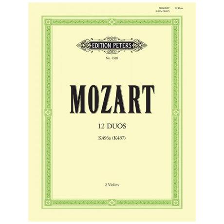 Mozart, W. A.: 12 leichte Duos KV 487