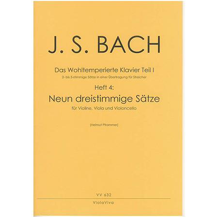 Bach, J. S.: 9 dreistimmige Sätze aus dem Wohltemperierten Klavier Teil I