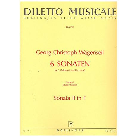 Wagenseil, G.C.: 6 Sonaten Band 2 Nr.2 F-Dur