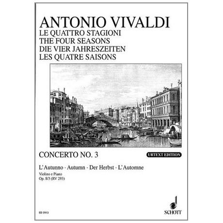 Vivaldi, A.: Violinkonzert Op. 8/3 RV 293 F-Dur »Der Herbst«