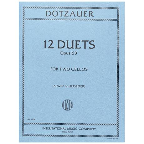 Dotzauer, J. J. F.: 12 Duette Op. 63