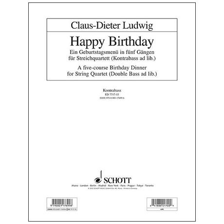 Ludwig, C.-D.:  Happy Birthday – Kontrabass
