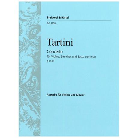 Tartini, G.: Konzert für Violine, Streichorchester und B.c. g-Moll