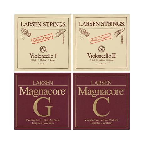 LARSEN Magnacore Cellosaiten SATZ 4/4 | mittel