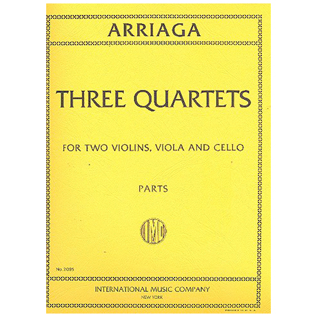 Arriaga, J.C.d.: Three String Quartets