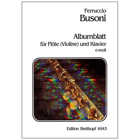 Busoni, F.: Albumblatt e-moll, Busoni-Verz. 272