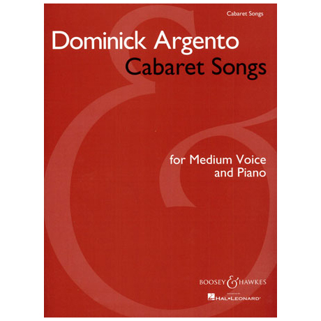 Argento, D.: Cabaret Songs