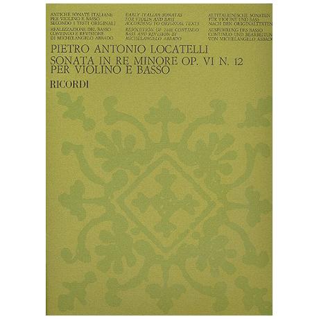 Locatelli, P. A.: Violinsonate Op. 6/12 d-Moll