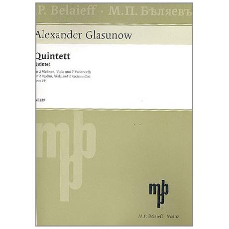 Glasunow, A.: Quintett A-Dur, Op. 39