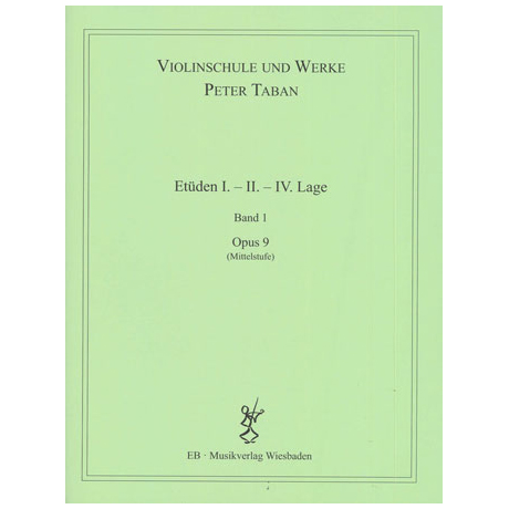 Taban, P.: Op. 9: Etüden I. - II. - IV. Lage