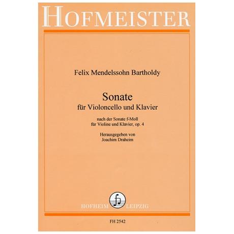 Mendelssohn, B. F.: Sonate Op. 4 f-Moll