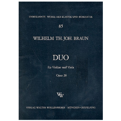 Braun, W. Th J.: Duo Op. 20