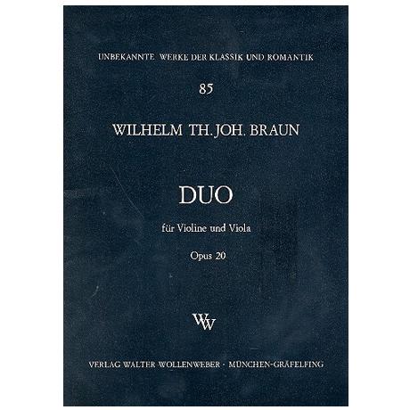 Braun, W. Th J.: Duo Op. 20