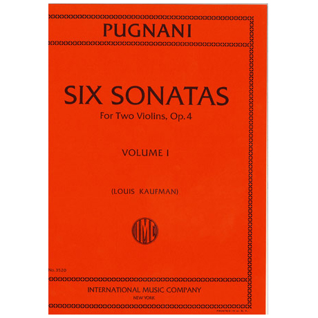 Pugnani, G.: 6 Sonaten op. 4 Band 1