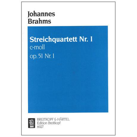 Brahms, J.: Streichquartett c-moll, op. 51/1