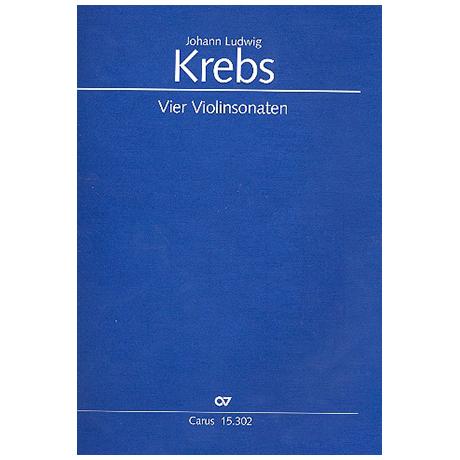 Krebs, J.L.: Vier Violinsonaten