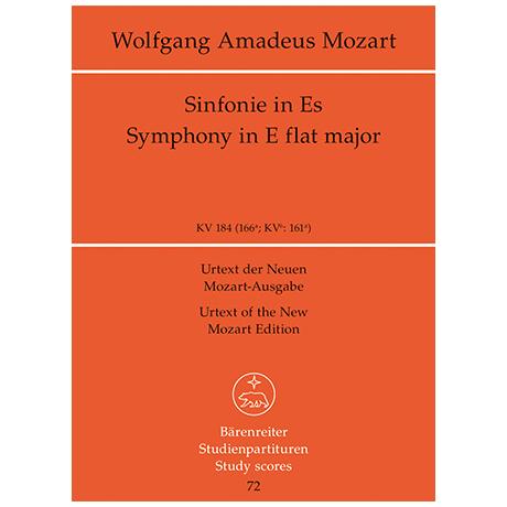 Mozart, W. A.: Sinfonie Nr. 26 Es-Dur KV 184 (166a)