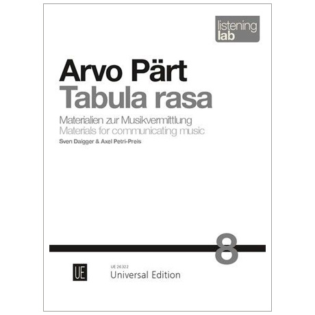 Daigger, S. / Petri-Preis, A.: Arvo Pärt »Tabula Rasa«