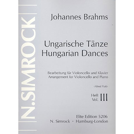 Brahms, J.: Ungarische Tänze Band 3 (Nr.11-16)