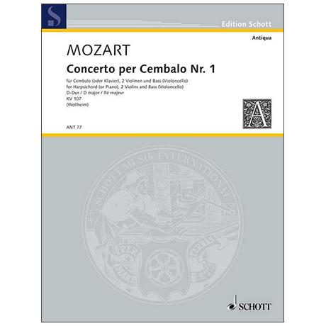 Mozart, W. A.: Concerto I KV 107 D-Dur