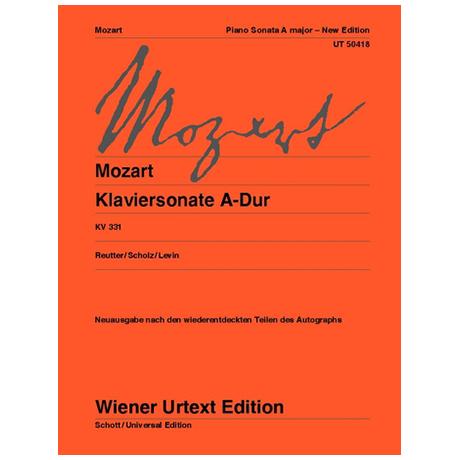 Mozart, W. A.: Klaviersonate A-Dur KV 330i (331)