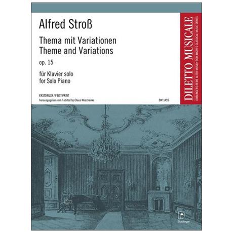 Stroß, A.: Thema mit Variationen Op. 15 a-Moll