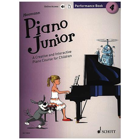 Heumann, H.-G.: Piano Junior – 4 Performance Book (+Online Audio)