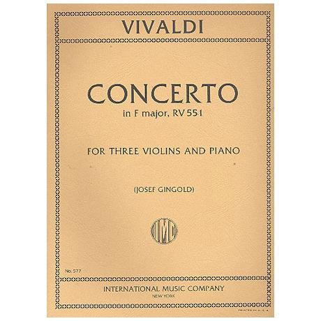 Vivaldi, A.: Violinkonzert RV 551 F-Dur