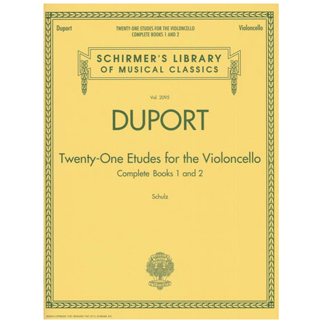 Duport, J.-L.: 21 Etudes Band 1 & 2