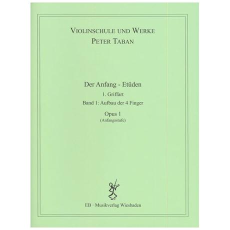Taban, P.: Op. 1: Der Anfang - Etüden Band 1