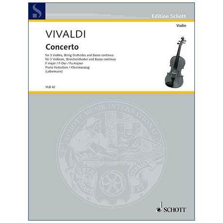 Vivaldi, A.: Konzert für 3 Violinen und Orchester RV 551 F-Dur