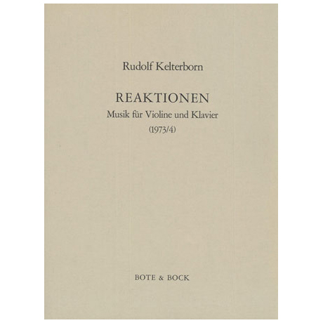 Kelterborn, R.: Reaktionen