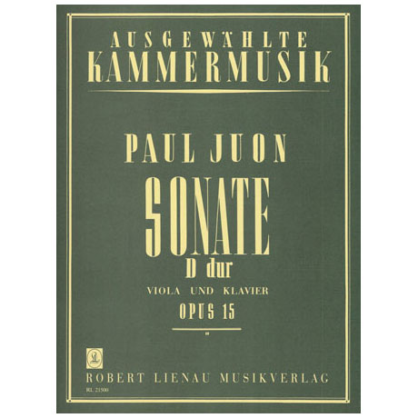 Juon, P.: Sonate D-Dur Op.15