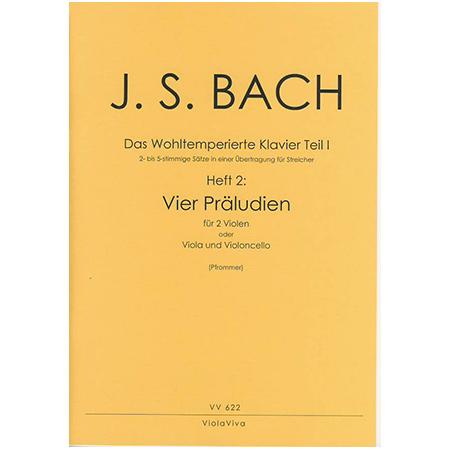 Bach, J. S.: 4 zweistimmige Präludien aus dem Wohltemperierten Klavier Teil I