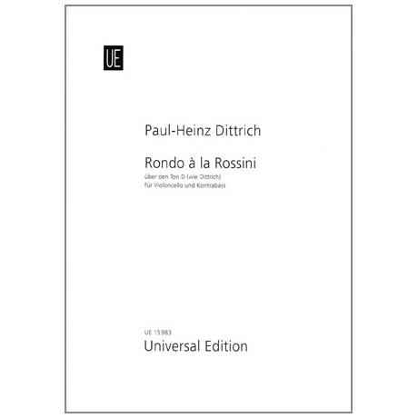 Dittrich, P.H.: Rondo à la Rossini über den Ton D