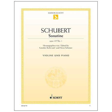 Schubert, F.: Sonatine in D-Dur Op. 137 Nr. 1