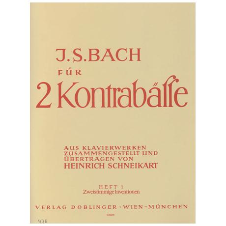 Bach für 2 Kontrabässe Band 1
