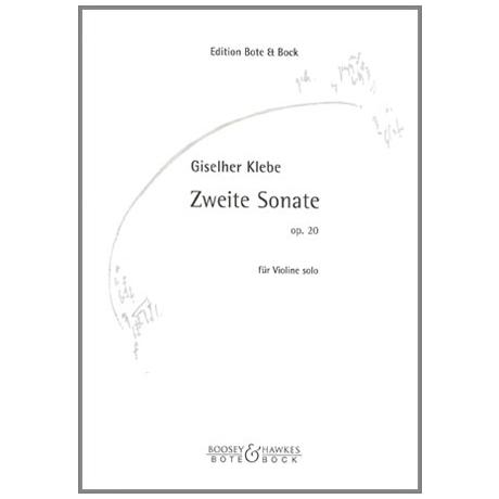 Klebe, G.: Sonate Nr.2 Op.20