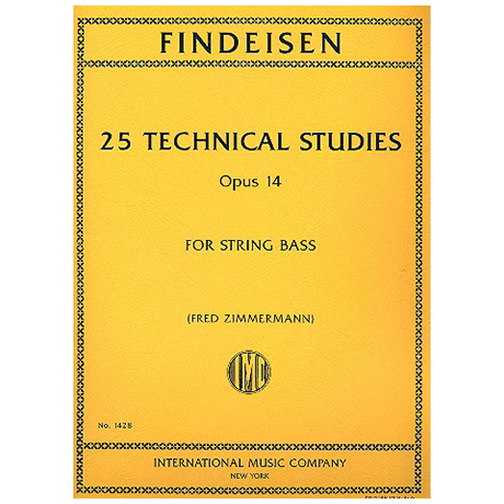 Findeisen, Theodor: 25 Technical Studies, Op. 14