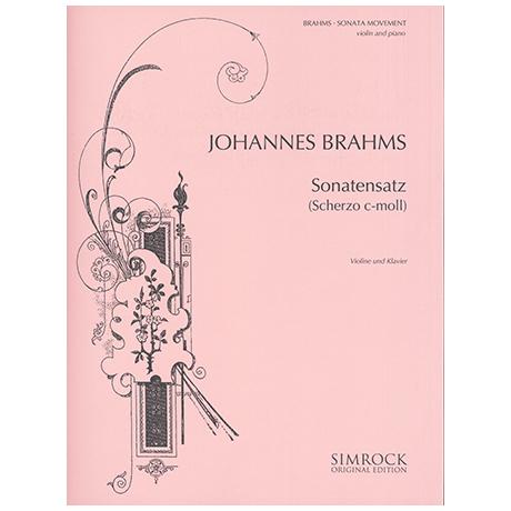 Brahms, J.: Sonatensatz (Scherzo c-Moll) Op.posth.