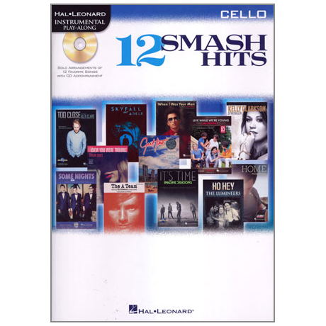 12 Smash Hits for Cello (+CD)