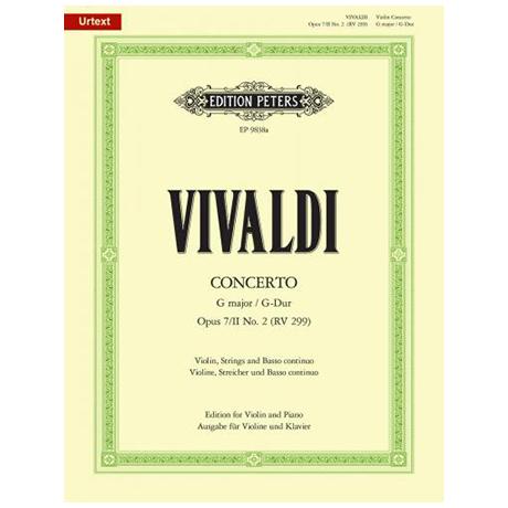 Vivaldi, A.: Violinkonzert Op. 7/2 RV 299 G-Dur