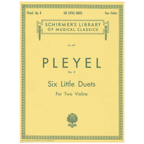 Pleyel, I. J.: Six Little Duets Op. 8
