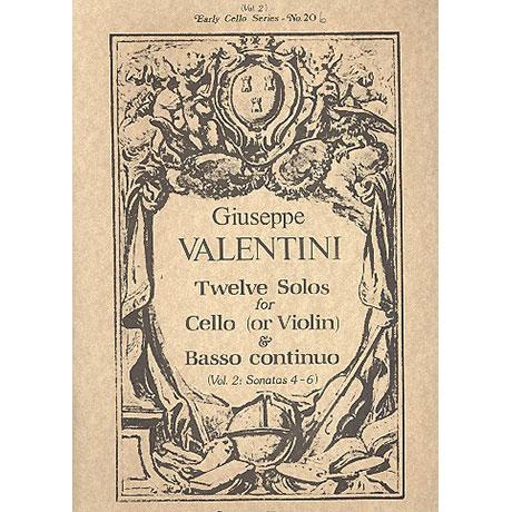 Valentini, G.: 12 Solos Band 2 (Nr.4-6)