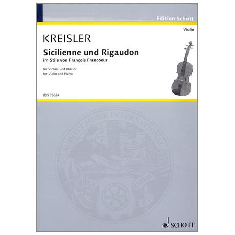 Kreisler, F.: Sicilienne et Rigaudon