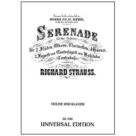 Strauss, R.: Serenade Op. 7 Es-Dur
