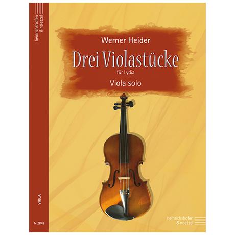 Heider, W.: Drei Violastücke für Lydia