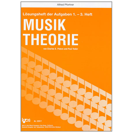 Peters / Yoder: Lösungsheft zur Musiktheorie Band 1 für Heft 1-3